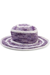 Missoni Crochet Knit Cotton And Silk Blend Sunhat Multi