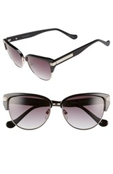 Women's Ivanka Trump 56Mm Round Sunglasses Black