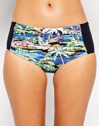Moontide Palms 50S Bikini Bottom Black