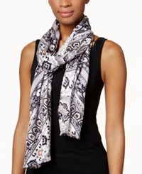 Inc International Concepts Iconic Paisley Print Scarf Only At Macy's Neutral