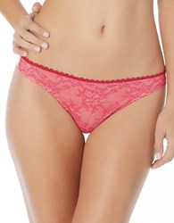 Jessica Simpson Lady In Lace Thong Fuchsia