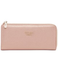 Guess Cate Slim Zip Wallet Rose Gold