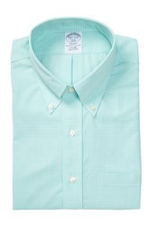 Brooks Brothers Long Sleeve Micro Check Shirt Green