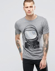 Replay Spaceman T Shirt Melange Grey
