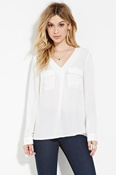 Forever 21 Pocket Front Top Cream