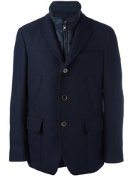 Fay Buttoned Jacket Blue