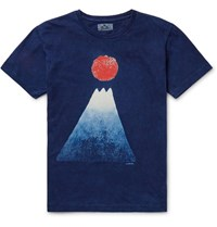Blue Blue Japan Indigo Dyed Cotton Jerey T Hirt