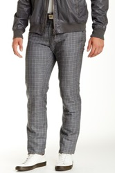 Todd Snyder Washed Linen Plaid Pant Gray