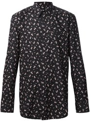 Givenchy Floral Print Shirt Black