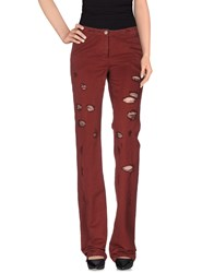 Alysi Trousers Casual Trousers Women Maroon
