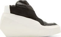 Julius Black And White Rubber Prism High Top Sneakers