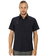 Matix Clothing Company Falcon Woven Top Lapd Men's Short Sleeve Button Up Navy