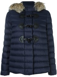 Red Valentino Hooded Puffer Jacket Blue