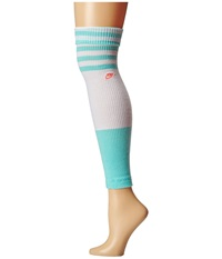Nike Classic Leg Warmer White Artisan Teal Lava Glow Knee High Socks Shoes Blue