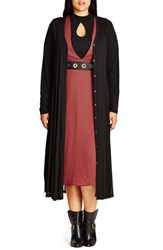 City Chic Plus Size Women's Longline Sheer Cardigan