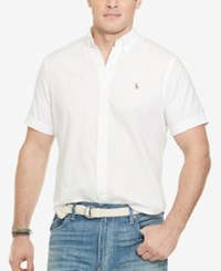 Polo Ralph Lauren Big And Tall Men's Chambray Oxford Shirt White
