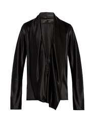 Haider Ackermann Nemesis Silk Satin Draped Blouse Black
