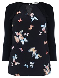 Oasis Butterfly Blouse Black