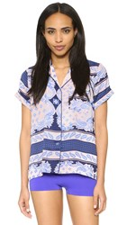 Minkpink Float Away Button Front Shirt Multi