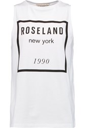Etre Cecile Printed Cotton Jersey Tank White