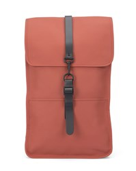 Rains Orange Waterproof Backpack