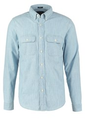 Abercrombie And Fitch Muscle Fit Shirt Chambray Dark Blue