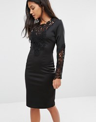 Supertrash Deux Lace Detail Dress Black