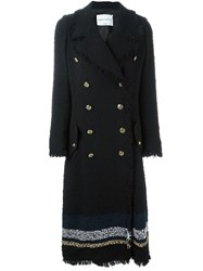 Sonia Rykiel Double Breasted Coat Black