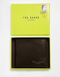 Ted Baker Antony Leather Billfold Coin Wallet Brown
