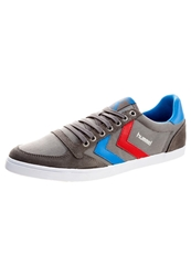 Hummel Slimmer Stadil Low Canvas Trainers Castle Rock Blue Red Grey
