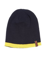 Lyle And Scott Golf Reversible Beanie Hat Navy