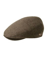 Bailey Hats Wool Blend Newsboy Cap Brown Herringbone