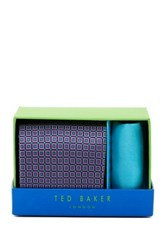 Ted Baker Reece Connected Diamond Silk Tie And Handkerchief Multi