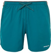 Patagonia Strider Pro Shell And Mesh Running Shorts Blue