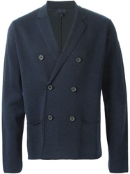 Lanvin Double Breasted Cardigan Blue