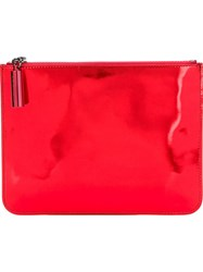 Christopher Kane Zipped Pouch Clutch Yellow And Orange