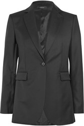 Joseph Laurent Super 100 Wool Twill Blazer Black