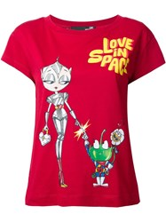Love Moschino 'Love In Space' T Shirt Red