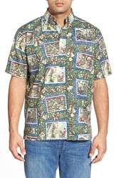 Men's Reyn Spooner 'Hawaiian Christmas' Classic Fit Wrinkle Free Pullover Shirt Navy