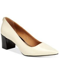 Calvin Klein Women's Natalynn Pointed Toe Pumps Women's Shoes Soft White