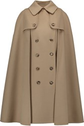 Michael Kors Collection Melton Cape Effect Wool Coat Sand