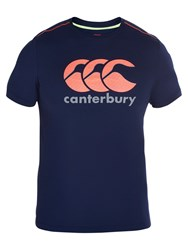 Canterbury Of New Zealand Vapodri Cotton Logo T Shirt Blue