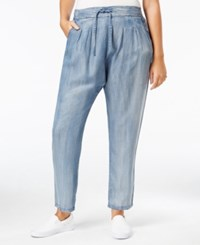 Standards And Practices Trendy Plus Size Pull On Straight Leg Jeans Crossover