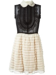 Red Valentino Lace Detail Dress Nude And Neutrals