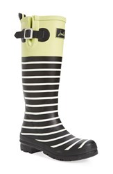Joules Women's 'Welly' Print Rain Boot Lime Block