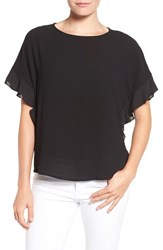 Gibson Women's Ruffle Sleeve Top Black