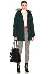 Canada Goose Victoria Parka With Coyote Fur In Green