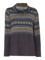 Lily And Me Relaxed Fairisle Jumper Grey