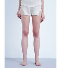 Three Graces London Drums In The Night Silk Shorts Canvas