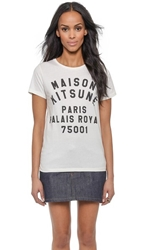 Maison Kitsune Palaise Royal Tee Cream Black